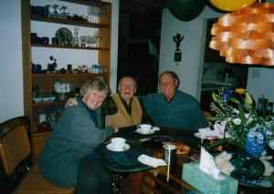 Barbara, Heinz and Alan at Rattlesnake Hill. Nov 15, 2001